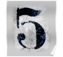 5, DIRTY FIVE, FILTHY 5, NUMBER 5, FIFTH, FIVE, Competition, TEAM SPORTS, Poster