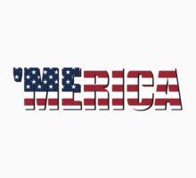 Merica America USA Kids Tee