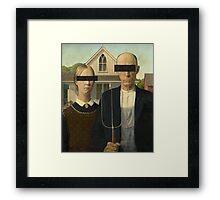 American Gothic Modernized Framed Print