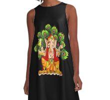 Ganesha India Elephant God A-Line Dress