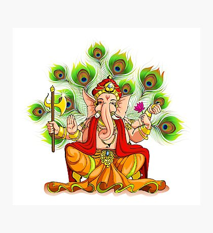 Ganesha India Elephant God Photographic Print
