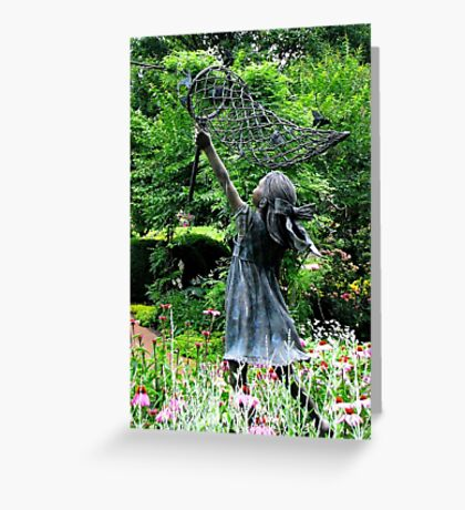 Chasing Butterflies at Hershey Gardens Pennsylvania Greeting Card