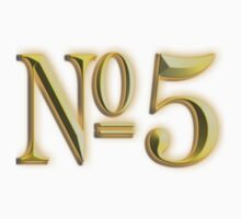 Golden Number 5, 5, NUMBER 5, in Gold, FIFTH, FIVE, 5, Competition, TEAM SPORTS, Kids Tee