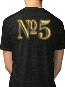 Golden Number 5, 5, NUMBER 5, in Gold, FIFTH, FIVE, 5, Competition, TEAM SPORTS, Tri-blend T-Shirt
