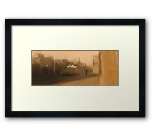 No place to be. Framed Print