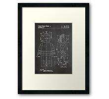 LEGO Minifigure US Patent Art Mini Figure blackboard Framed Print
