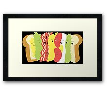 Happy Sandwich Framed Print