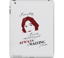 Waiting iPad Case/Skin