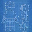 LEGO Minifigure US Patent Art Mini Figure blueprint by Steve Chambers