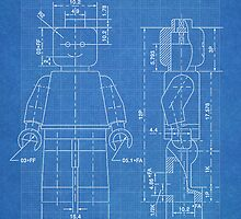 LEGO Minifigure US Patent Art Mini Figure blueprint by Steve Chambers