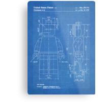 LEGO Minifigure US Patent Art Mini Figure blueprint Metal Print