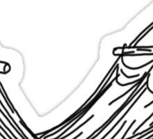 comfy hammock line drawing Sticker