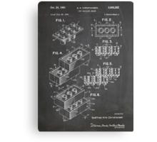 LEGO Construction Toy Blocks US Patent Art blackboard Canvas Print