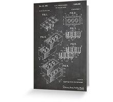 LEGO Construction Toy Blocks US Patent Art blackboard Greeting Card