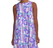 Seamless floral romantic background pattern texture print A-Line Dress