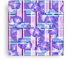 Seamless floral romantic background pattern texture print Canvas Print