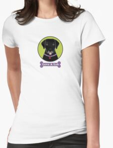 Love A Black Lab Womens Fitted T-Shirt