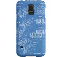 LEGO Construction Toy Blocks US Patent Art blueprint Samsung Galaxy Case/Skin