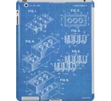 LEGO Construction Toy Blocks US Patent Art blueprint iPad Case/Skin