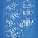 LEGO Construction Toy Blocks US Patent Art blueprint by Steve Chambers