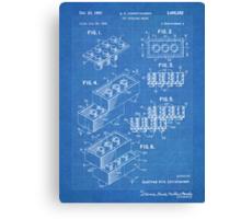 LEGO Construction Toy Blocks US Patent Art blueprint Canvas Print