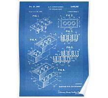 LEGO Construction Toy Blocks US Patent Art blueprint Poster