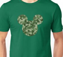 Mouse Army Pattern Patterned Silhouette Unisex T-Shirt