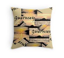 Guernsey collage Throw Pillow