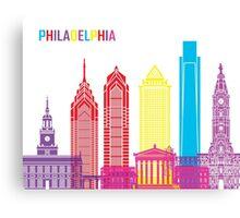 Philadelphia skyline pop Canvas Print