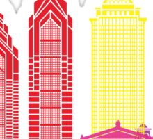 Philadelphia skyline pop Sticker