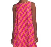 Squared Zig Zag A-Line Dress