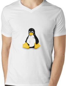 Tux the Linux Penguin - Acceptable Resolution Mens V-Neck T-Shirt