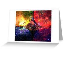 Four Suns Vibrant || Future Life Fashion || Fractal Art Greeting Card
