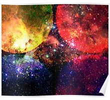 Four Suns Vibrant || Future Life Fashion || Fractal Art Poster