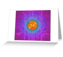 Bamboo Empire 24th Sun || Future Life Fashion || Fractal Art Greeting Card