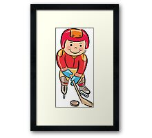 Sports people cartoon Framed Print