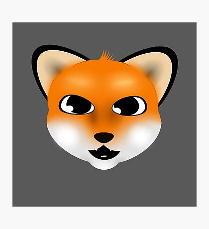 Sly Little Fox! Photographic Print
