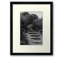 Dune Steps Framed Print