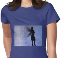 Winged Dark Lady Faerie Womens Fitted T-Shirt
