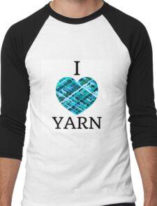 I Love Yarn -Aqua Men's Baseball ¾ T-Shirt