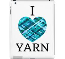 I Love Yarn -Aqua iPad Case/Skin