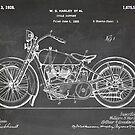 Harley-Davidson Motorcycle US Patent Art 1928 blackboard by Steve Chambers