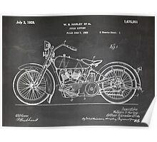 Harley-Davidson Motorcycle US Patent Art 1928 blackboard Poster