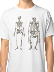 Skeletons of Man and Ape Classic T-Shirt
