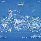 Harley-Davidson Motorcycle US Patent Art 1928 blueprint by Steve Chambers