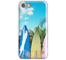Retro Color Surfboard Fence of Paia iPhone Case/Skin