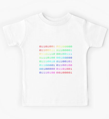 Binary... i can't read it! Kids Tee