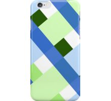 Green and Blue Plaid iPhone Case/Skin