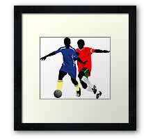 Football play players Framed Print