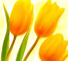 Golden Tulips by imagerially